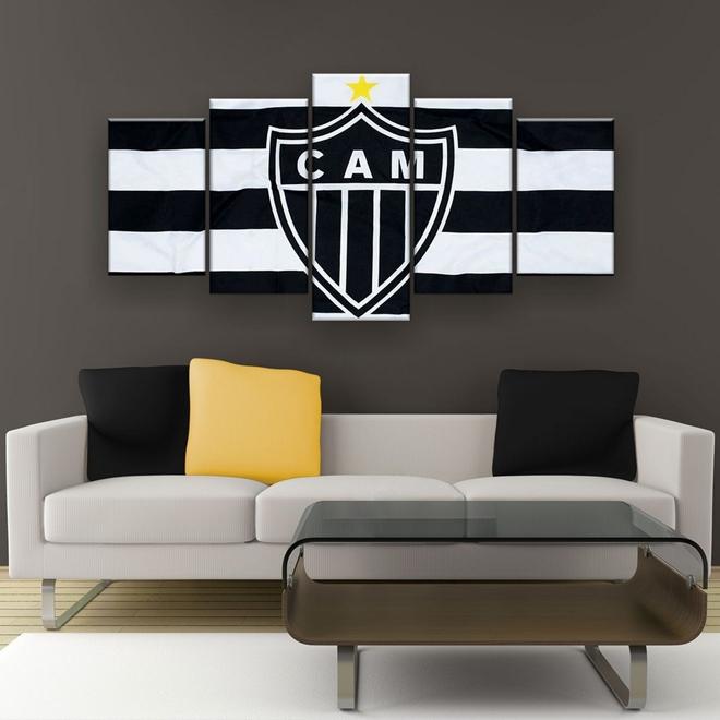 Quadro Decorativo Atletico Mineiro Futebol Clube 129x61 5pc P 5p T3 Quadro Decorativo Atletico Mineiro Futebol Clube 129x61 5pc Imperio