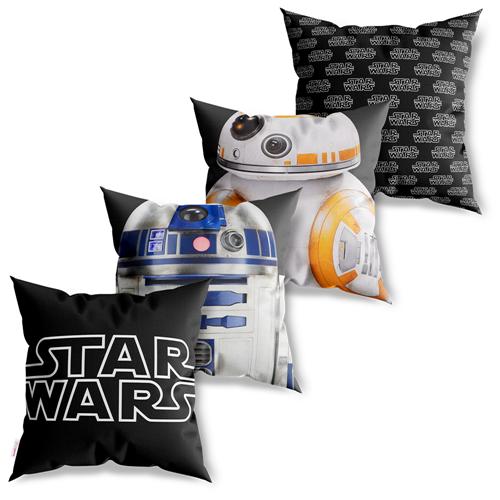 Kit 4 Capas De Almofadas Decorativas Star Wars